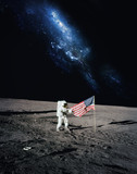 Astronaut walking on moon. Elements of this image furnished by N - 70003212