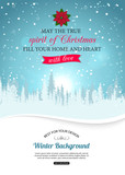 Merry christmas background with winter landscape and place for - 70003220