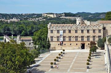 Avignone,  piazza del Palazzo dei Papi e panorama