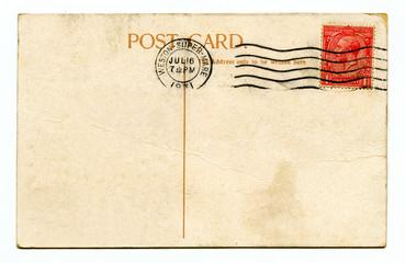 Vintage Postcard over a white background.