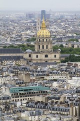 View of les Invalides from Eiffel Tower