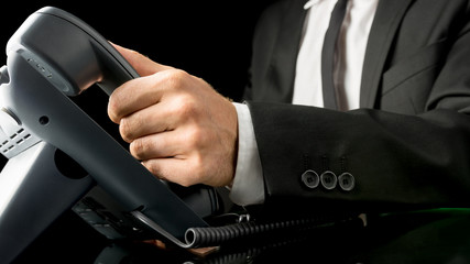 Businessman making a telephone call