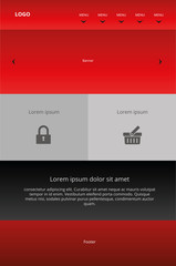Modern responsive web design. Graphic template
