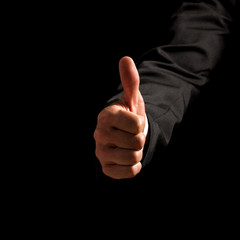 Man giving a thumbs up gesture