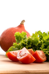 Side view of fresh vegetables