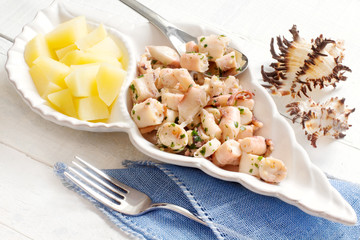 octopus with steamed potato recipe