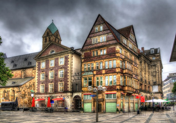 Buildings in Alter Markt square in Dortmund, Germany