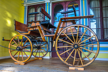 Old carriage at Historical German Museum of Valdivia, Chile