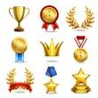 Realistic award icons set - 70007015