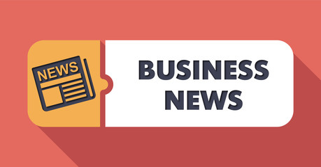 Business News Concept in Flat Design.