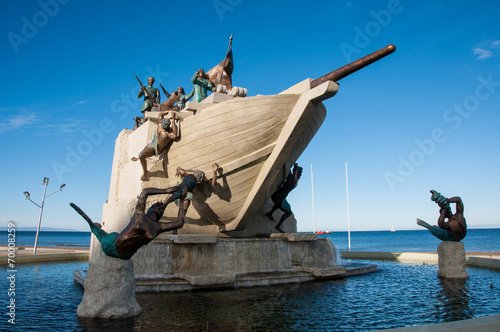 Representative statue and arts of Punta Arenas, Southern Chile