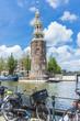 Montelbaanstoren tower in Amsterdam, Netherlands.