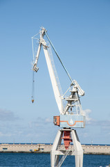 cranes of the port