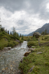 Idyllic alpine landscape at austria
