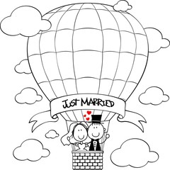 wedding hot air balloon