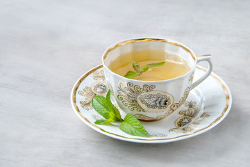 Cup of menth tea