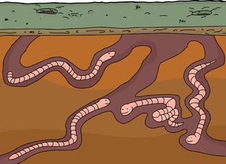 Happy Worms Underground