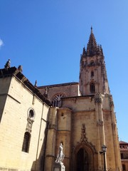View of Cathedral in Oviedo, Asturias - Spain