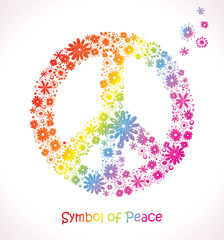 Symbol of Peace. Flower sign.