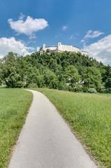 Hohensalzburg Castle (Festung Hohensalzburg) at Salzburg, Austri
