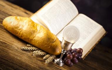 Holy Communion Bread, Wine