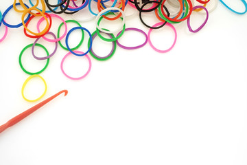 Colorful rubber bands for loom jewelry