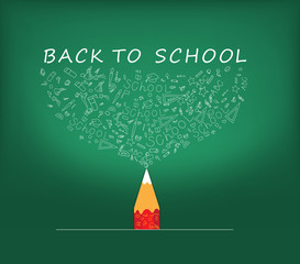 Back to School icons education pencil