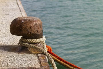 bollard on the dock