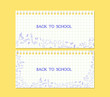 banner back to school note paper