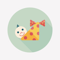 baby flat icon with long shadow