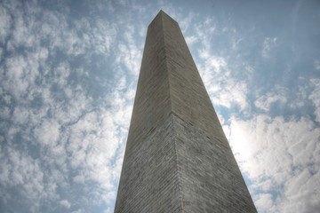 Washington Monument From Flags