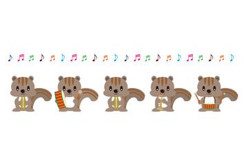リスの音楽隊
