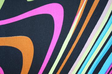 Colorful fabric ribbon samples