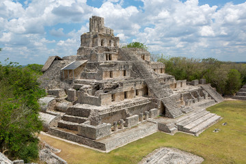 Main temple at Edzna, Campeche