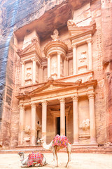 The Treasury in the Edomite city of Petra, Jordan