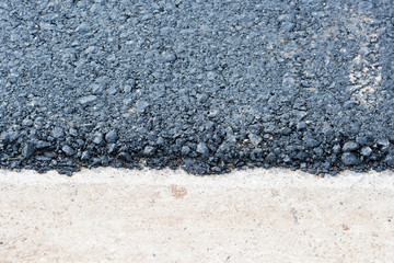 new black asphalt edge texture