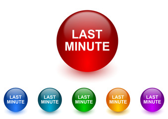 last minute internet icons colorful set