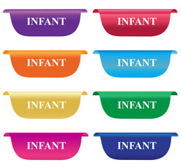 Infant,  tag, label, badge, horizontal