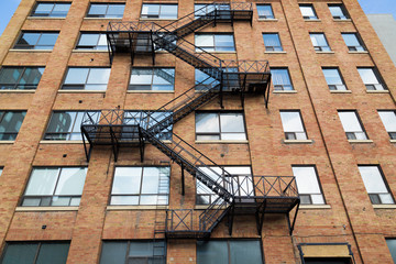 Typical Fire Escape