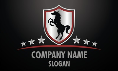 Shield Horse Logo