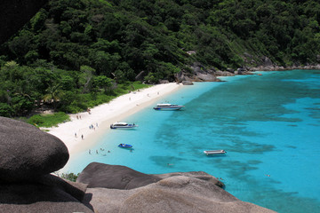 View point at Donald Duck Bay at Ko Similan Island in Similans n
