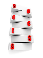 concept success ladder block steps and letters