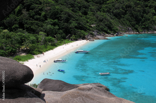 View point at Donald Duck Bay at Ko Similan Island in Similans n Poster
