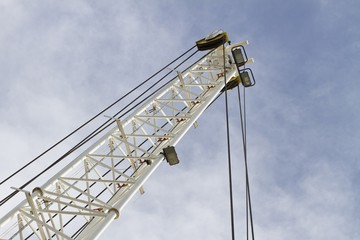 Crane in a construction site