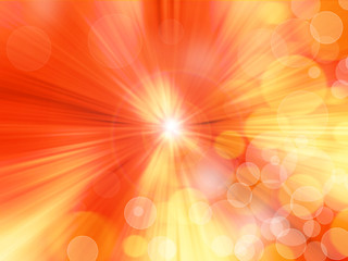 Radial abstract orange background
