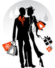 Couple Xmas Shopping