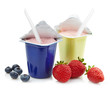 two plastic yogurt pots - 70015812