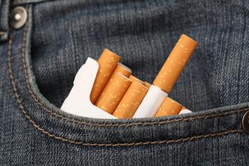Cigarettes in pocket of jeans