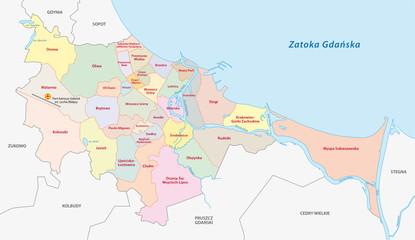 Danzig administrative Karte