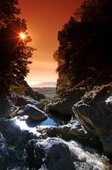 Corse, canyon en costa verde